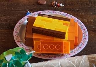 レゴで作ったカステラ